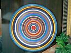 Tabletops Unlimited HAVANA Striped Hand Painted Chip  Dip Bowl Round Platter