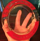 Vintage RCA Glass Ashtray Dunlap Electronics Advertising Cigarette Tobacco