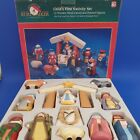 Kurt S Adler Childs First Nativity Set 12 Wooden Figures Complete