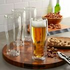 Henckels International 14 oz Double Wall Beer Glass 4 pack Free Shipping