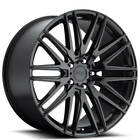 4 20 Staggered Niche Wheels M164 Anzio Gloss Black RimsB47