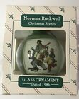 HALLMARK GLASS ORNAMENT 1986 NORMAN ROCKWELL IOB