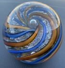 Swirl Bubble Paperweight Signed