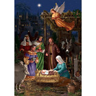 Angel Nativity STANDARD Size 28 Inch X 40 Inch Decorative Double Sided Flag