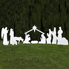 Outdoor Nativity Store Complete Outdoor Nativity Set Standard White