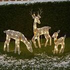 3 Pc Lighted Deer Family Outdoor Christmas Winter Decoration for Front Yards
