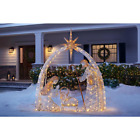 55 ft LED Nativity Scene Indoor Outdoor Extra Fuses and Light Bulbs Included