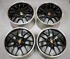 4 Factory Porsche Panamera S 4S GTS Turbo 20 OEM Wheels RS Spyder Black Rims
