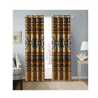 Rustic Western Southwestern Native American 2 Piece Window Curtains Set with Gro