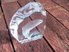 Beautiful NYBRO Sweden Crystal Fish Salmon Art Glass Paperweight Signed
