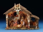 5 Inch Lighted FONTANINI Nativity Stable Only 50567