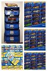 2010 Hot Wheels Wall Tracks 11 Car Display Rack Lot of 11 With Cars Brand New