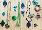 Huge Lot GLASS Jewelry Pendants Murano Art glass Dichroic Blown Millefiori Italy