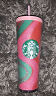Starbucks Exclusive 2020 Red Green Glitter Swirl 24 oz Cold Cup Tumbler