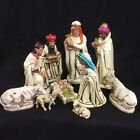 Vintage Nativity Set Ten Pieces Includes Animals Made In Japan Tall