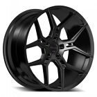 4 20 Giovanna Wheels Haleb Black Rims B44