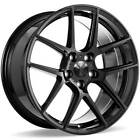 4 19 20 Staggered Ace Alloy Wheels AFF02 Gloss Piano Black RimsB44