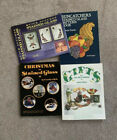 Lot Of 4 Stained Glass Pattern Books Pre owned
