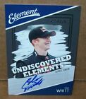 COLE WHITT 2011 WHEELS ELEMENT RACING PRESS PASS AUTOGRAPHED CARD 155 225 MADE
