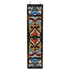 Victorian Stained Glass Fleur De Lis Window Panel River of Goods 19981
