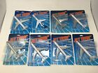 Jet Tran Replica Commercial Airliners Diecast Metal Lot of 8 on cards New