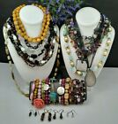 MAMAS ESTATE VINTAGE NOW STONE  GLASS BEADED JEWELRY LOT STNG