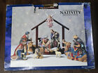Kirkland Signature 12 Piece Porcelain Nativity Set 75177 in Box w Wood Crche