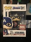 Funko Pop! Avengers Endgame #481 Captain America Collector Corp Exclusive Damage