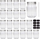 12oz Glass Jars W Lids Small Mason Jar Wide Mouth Mini Canning W Lid Honey Jam