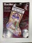 Bucilla Stained Glass Nativity Counted Cross Stitch Christmas Stocking Kit 1996