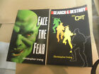 2 Eagle Force PULP tpbs SIGNED by Christopher Irving THE CAT  FACE THE FEAR zm