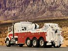 1 64 DCP WHITE RED KENWORTH T800 W 38 SLEEPER TRI AXLE W CENTURY 9055 WRECKER