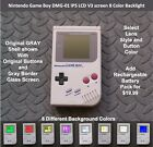 Nintendo Game Boy DMG 01 with IPS LCD V3 screen 8 Color Backlight GRAY
