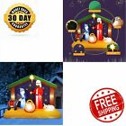 65FT Christmas Inflatable Nativity Scene Blow Up LED Light Jesus Outdoor Indoor