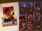 ROCKY 2 II Movie © 1979 Topps 21 stickers & Complete 99 Card set & box ad