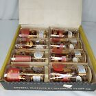 Vintage Highball Glasses Cocktail Recipes Red Gold Set Of 8 Box MCM Barware USA