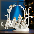 Christmas Lighted Joy Nativity Scene Holiday Sculpture Music Stunning Decoration