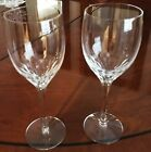 ORREFORS PRELUDE STEMMED CLEAR WINE GLASS SET OF 2 EUC