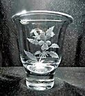 Kosta Boda Art Glass Votive Vase Etched Signed Persson Bauer