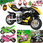 Mini Gas Power Pocket Bike Motorcycle 49cc 4 Stroke Engine For Kids And Teens