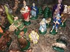 Vintage 20 Piece Atlantic Mold Nativity Set
