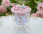 Hot Starbucks Pink Sakura Cup Coffee Glass Mug with Cute Cat Lid Limited Edition