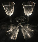 4 Mikasa CLARIDGE CRYSTAL Wine Glass 8 Diamond Thumbprint Pattern Tulip Shaped