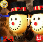 2 Pack Christmas Decorations Outdoor Christmas Porch Light Covers Snowman Decor