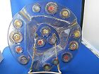 Higgins Round Tray Mid century Modern Fused Art Glass Dearborn Colorful Jewels