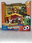 Veggie Tales Christmas Nativity Play Set with Lights and Music Baby Jesus 16 pcs
