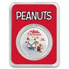 Peanuts 55 Years of A Charlie Brown Christmas 1oz Color Silver Colorized ROUND