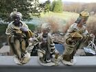 3 Vintage Large Paper Mache Nativity Figure Wise Men King Magi Japan 9 12
