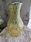 Vintage Antique Fostoria Art Glass Honeysuckle Opalescent Coin Dot Lamp Shade