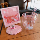 Hot New Pink Sakura Cup Starbucks Coffee Glass Mug Stir Rod Stick Lid w Coaster